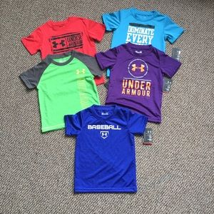 Under Armour Toddler boy tee bundle NWT